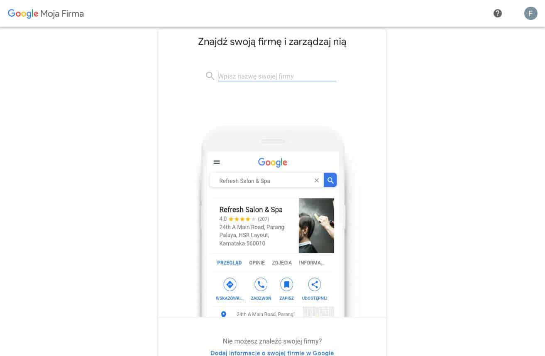 Tworzymy profil w Google Moja Firma – wyszukaj swoja firmę