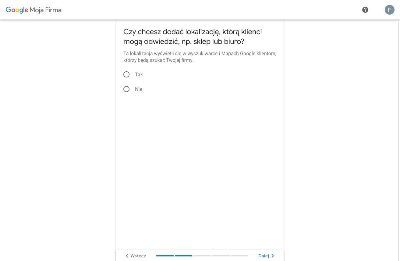 Tworzymy profil w Google Moja Firma - udostępnianie adresu