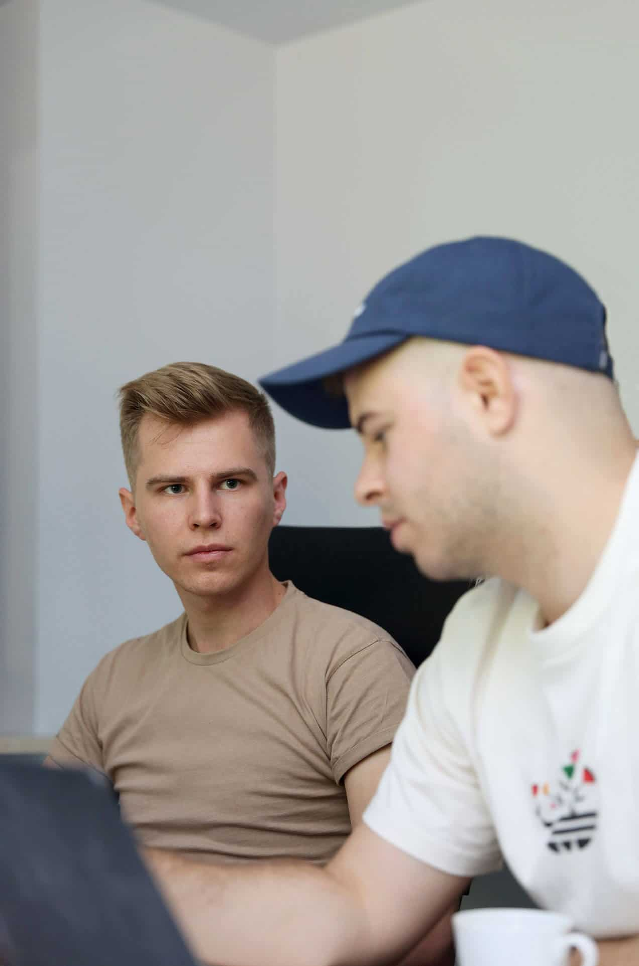 Kuba z Filipem przy pracy - Kiwwwi - tworzenie stron WWW